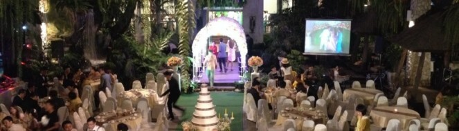 สถานที่จัดงานแต่งงานใสสวน
